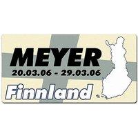 Länder - Nummernschild im Format 30x15 cm - Finnland
