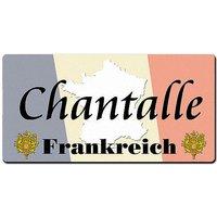 Länder - Nummernschild im Format 30x15 cm - Frankreich