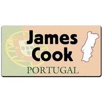 Länder - Nummernschild im Format 30x15 cm - Portugal