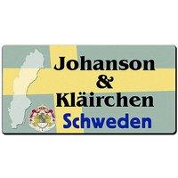 Länder - Nummernschild im Format 30x15 cm - Schweden