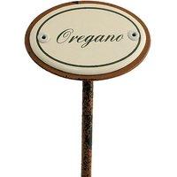 Gartenstecker aus Emaille für das Kräuterbeet - Oregano