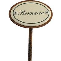 Gartenstecker aus Emaille für das Kräuterbeet - Rosmarin