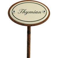 Gartenstecker aus Emaille für das Kräuterbeet - Thymian