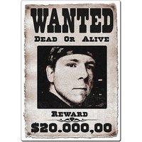 Aluminiumschild Wanted bedruckt mit Ihrem Bild und Wunschtext
