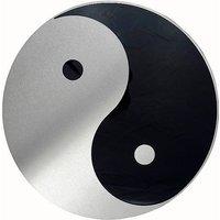 Schild Yin und Yang aus Edelstahl