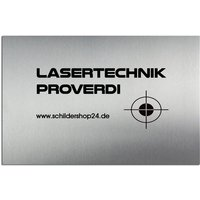 Türschild Edelstahl mit Lasergravur 150 x 100 mm
