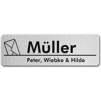 Aluminium Namensschild für den Briefkasten - Envelope