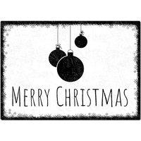 Blechschild Schneeflöckchen mit individuellem Wunschtext im Format A4 weiß