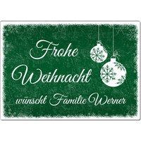 Blechschild Schneeflöckchen mit individuellem Wunschtext im Format A4 grün