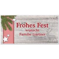 """Hüttentraum Dekoschild """"Frohes Fest"""" oder mit Wunschtext - 300 x 150 mm Motiv Tannenzweig"""