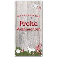 Hüttentraum Dekoschild Frohe Weihnachten oder mit Wunschtext - 100 x 200 mm