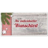 Dekoschild Hüttentraum mit Wunschtext - 200 x 100 mm Motiv Tannenzweig