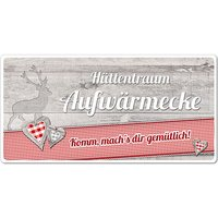 Dekoschild Hüttentraum mit Wunschtext - 200 x 100 mm Motiv Hirsch