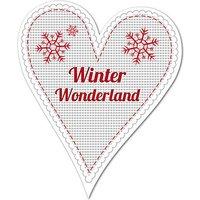 Dekoherz Hüttentraum Winter Wonderland oder mit Wunschtext - 180 mm Schneesterne