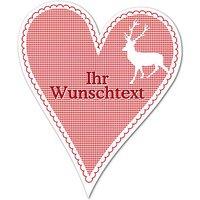 Dekoherz Hüttentraum mit Wunschtext - 180 mm Hirsch