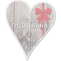 Hüttentraum Dekoherz Fröhliche Weihnachten mit Wunschtext - 180 mm Schleife