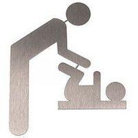 Symbol Wickelraum aus Edelstahl