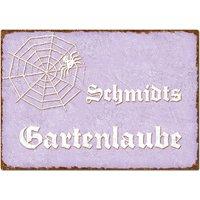 Dekoschild im Vintage Look mit Wunschtext A4 violett large