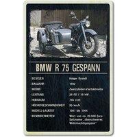 Ausstellungsschild für Motorrad Oldtimer 200 x 300 mm black vintage