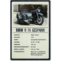 Ausstellungsschild für Motorrad Oldtimer 200 x 300 mm light vintage