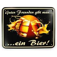 Funschild - Guten Freunden gibt man ein Bier