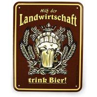 Funschild - Hilf der Landwirtschaft trink Bier