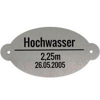 Edelstahl Hochwassermarke 120 x 60 mm