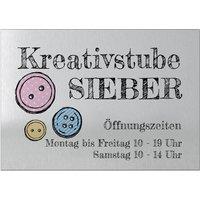 Firmenschild mit Wunschtext und Symbol - Größe A4 - silbern/schwarz