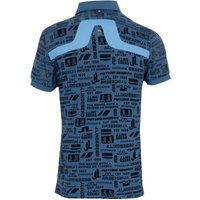 J Lindeberg KV Print Golf Polo Shirt