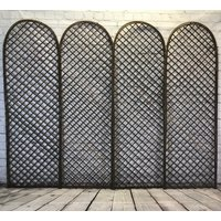 Set of 4 Willow Trellis With Curved Top (180cm x 60cm)