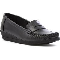 Softlites Womens Black Moccasin Loafer Shoe