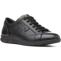 Image of Comfy Steps Womens Black Leather Lace Up Shoe