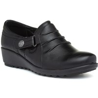 Cushion Walk Gatsby Womens Black Wedge Shoe
