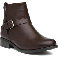 Image of Lilley Womens Brown Flat Ankle Boot