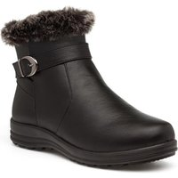 Softlites Womens Black Wedge Ankle Boot