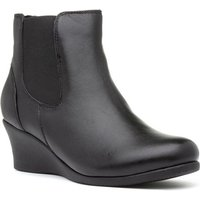 Comfort Plus Selena Womens Black Wedge Ankle Boot