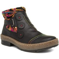 Lotus Womens Blue Stitch Detail Casual Boot