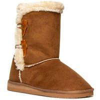 Lilley Womens Chestnut Calf Boot with Toggles