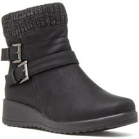 Softlites Womens Wedge Ankle Boot in Black