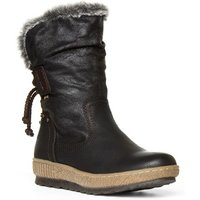 Relife Womens Black Wedge Heeled Boot