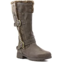 Lilley Womens Brown Fur Lined Casual High Leg Boot