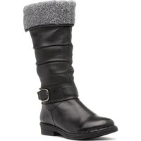 Natrelle Womens Black Wedge High Leg Boot