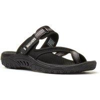 Skechers Black Slip On Sandal