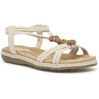 Sprox Womens White Wedge Mule Comfort Sandal
