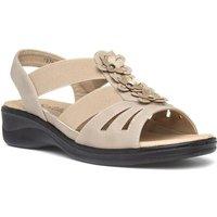 Softlites Womens Black Comfort Sandal