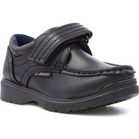 US Brass Boys Black Easy Fasten Shoe