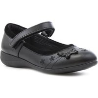 Walkright Girls Black Coated Leather Shoe