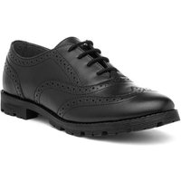 Buckle My Shoe Girls Black Leather Brogue Shoe