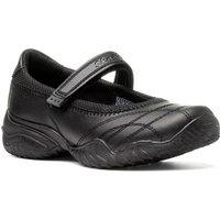 Skechers Girls Black Leather Touch Fasten Shoe