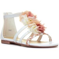 Image of Lilley Girls White Floral Flat Sandal